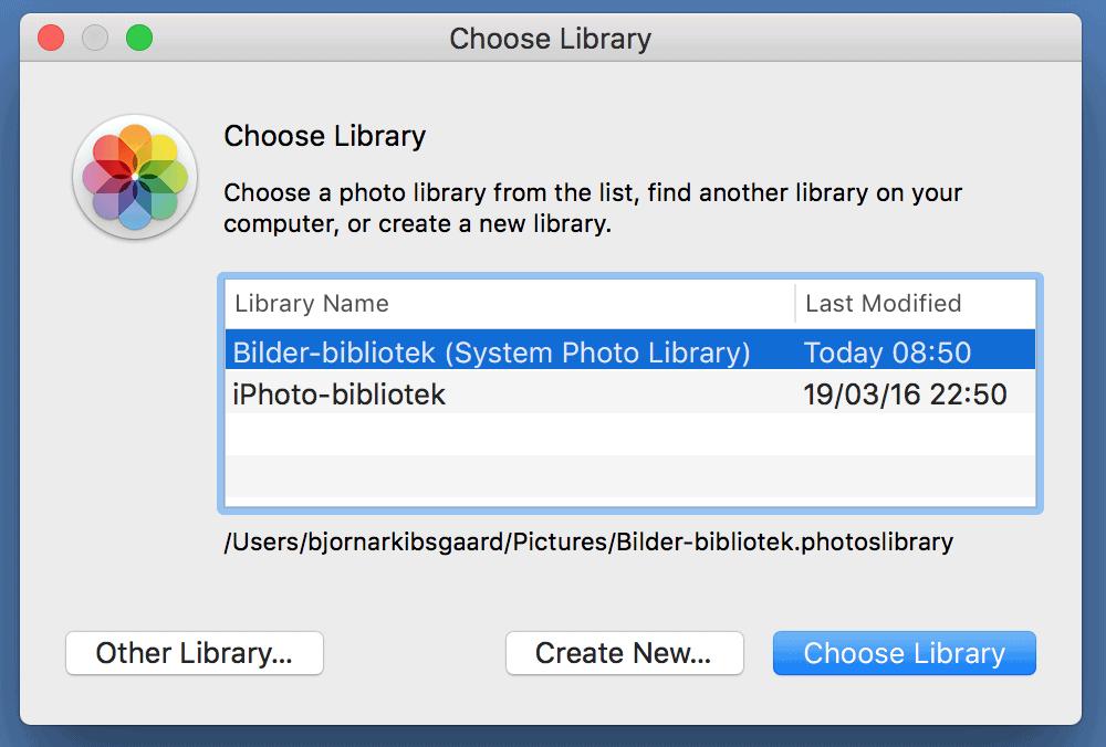 change photo library
