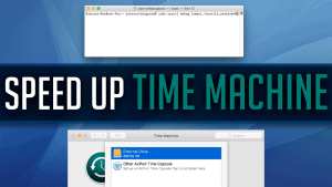 speed up time machine backups