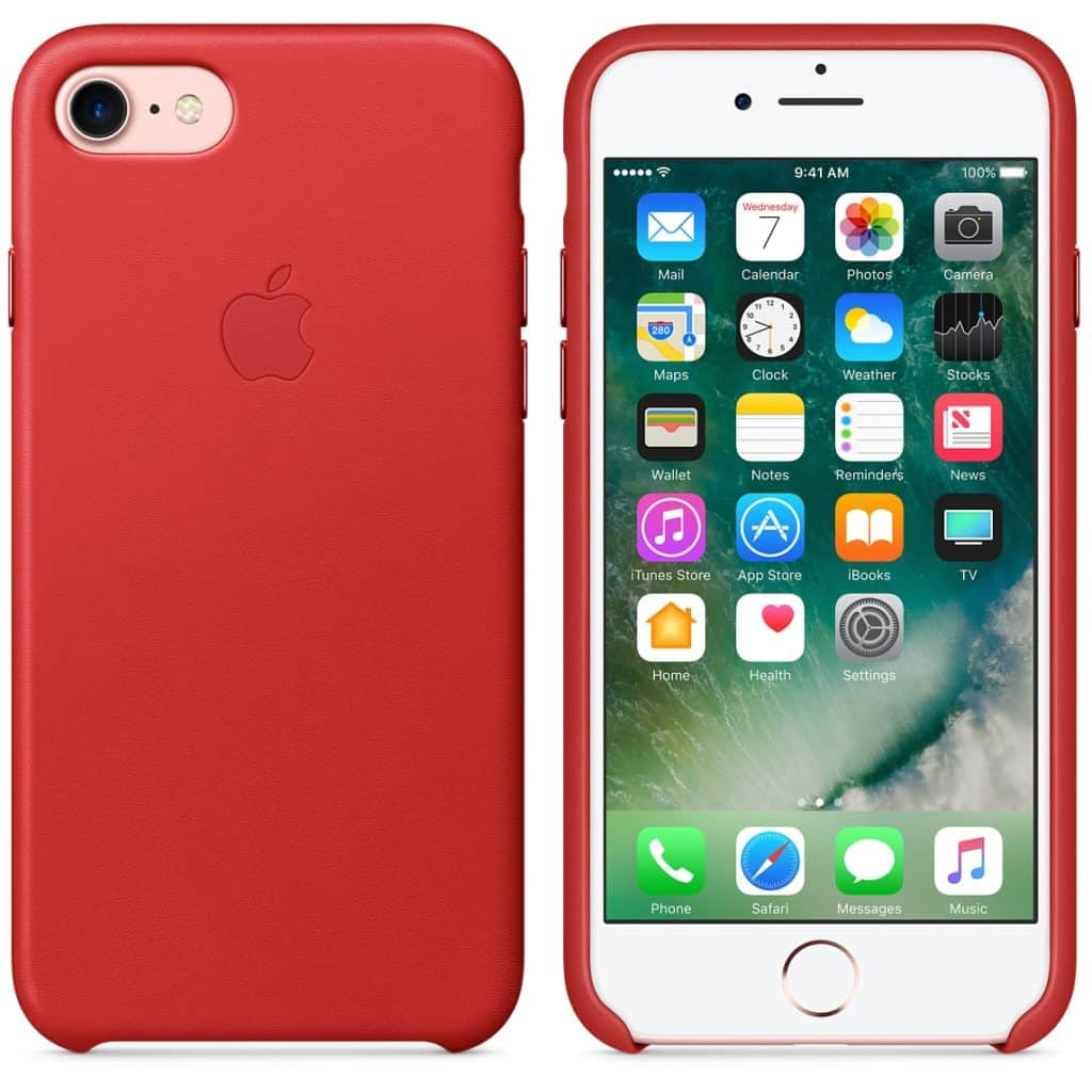 iPhone 7 Leather Case - (PRODUCT)RED