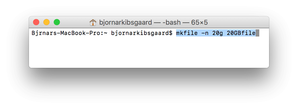 mkfile terminal command